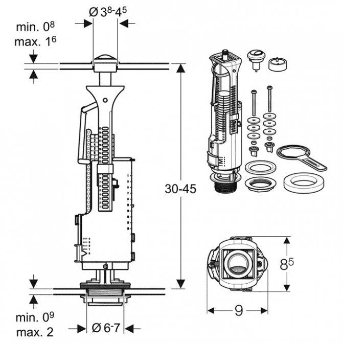 Клапан сливного бачка унитаза не перекрывает воду - все о канализации
