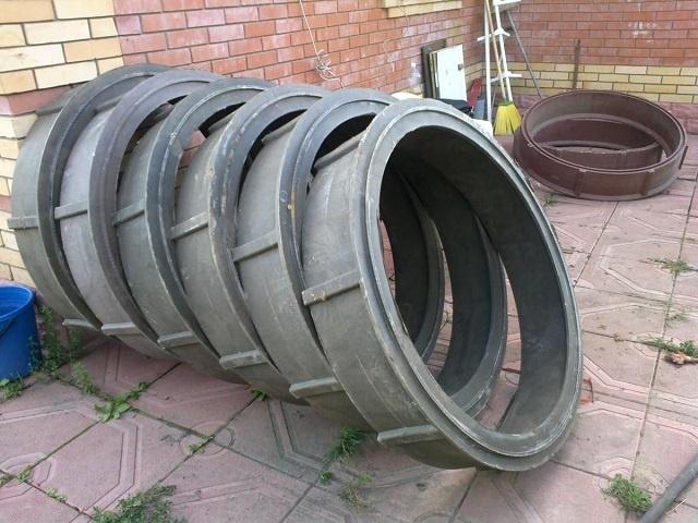 Установка кессона для скважины: бетонные или полимерно песчаные кольца, стоимость установки