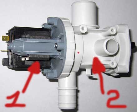 Насос стиральной машины: замена сливной помпы машинки. как снять и почистить водяной насос? где он находится? устройство