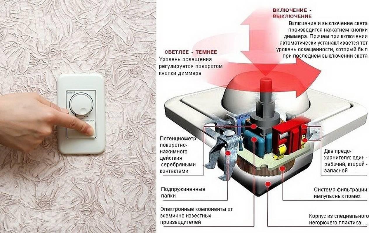 Как подключить диммер: с какими лампами работает, схемы, управление