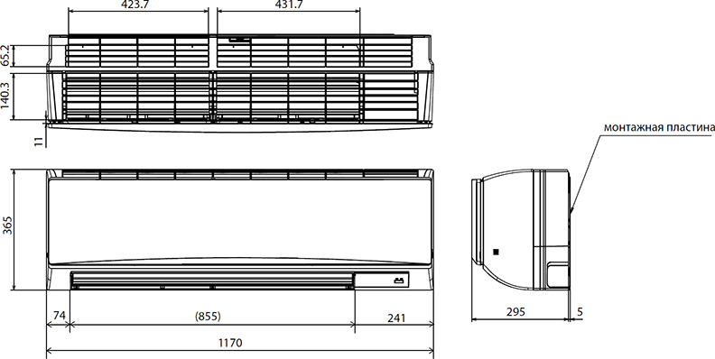 Внутренний блок кондиционера: 5 типов, характеристики, размеры и установка