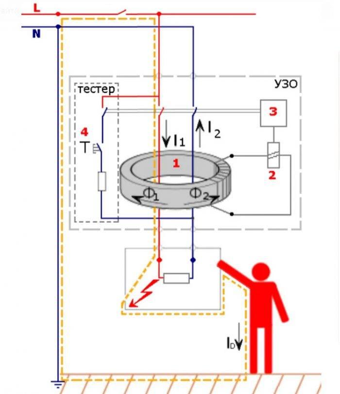 Как правильно подключить узо без заземления — схема и ее плюсы и минусы