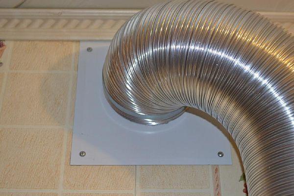 Гофра для вытяжки: размеры диаметр, монтаж вентиляционной трубы
