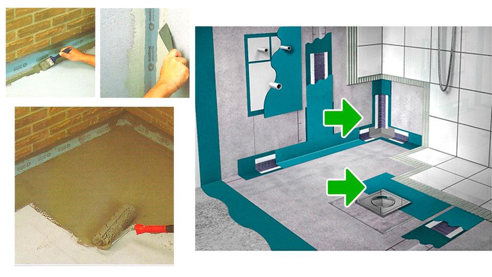 Гидроизоляция пола в ванной под плитку — правила монтажа