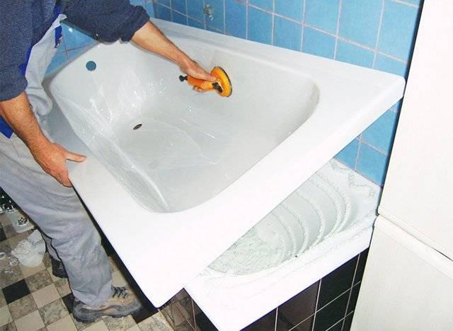 Покрытие ванны акрилом своими руками, покраска и эмалировка акрилом