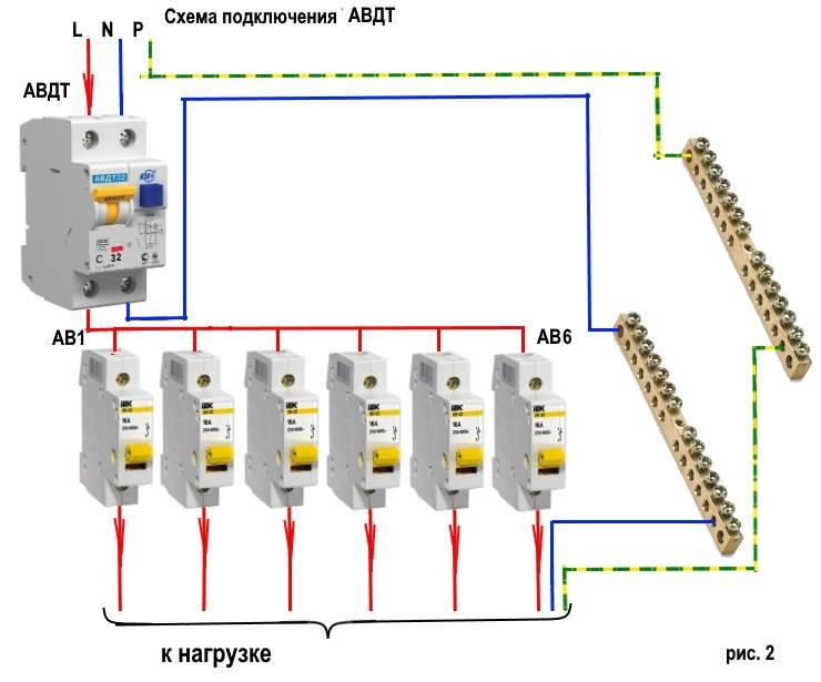 Дифавтомат: устройство и принцип работы, монтаж, схемы и способы подключения в распределительном щите