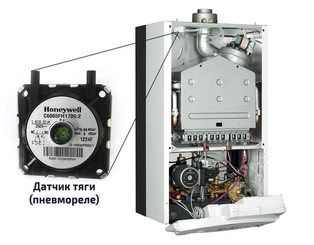 Датчик тяги газового котла: подробная инструкция, принцип работы контроля тяги в котлоагрегатах с открытой и закрытой камерой сгорания, как проверить, отключить и заменить, цены на популярные модели