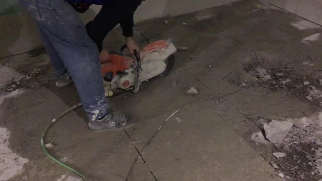 Демонтаж стяжки — правила демонтажа, основные моменты