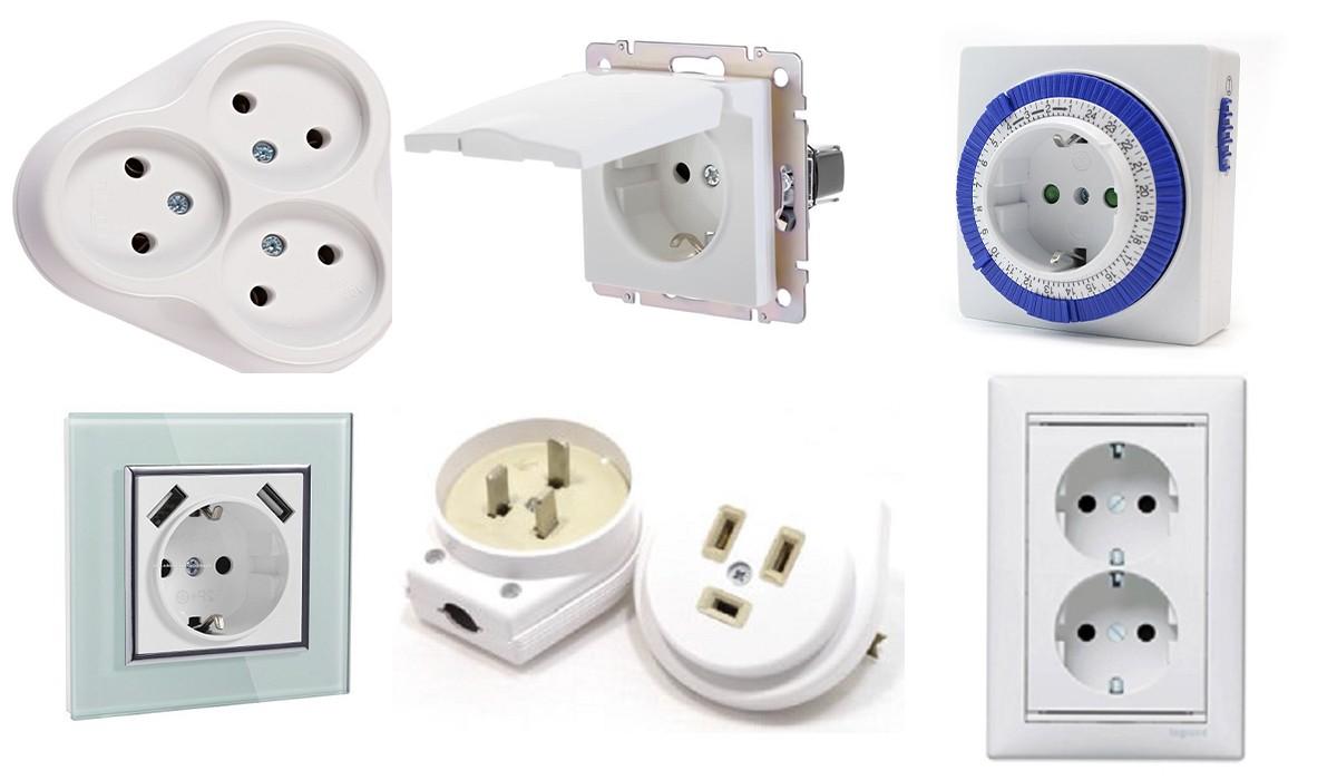 Виды электрических розеток и типы выключателей: варианты