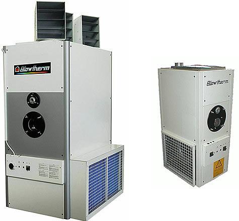 Газовые теплогенераторы для воздушного отопления производственных помещений и теплиц, изготовление и монтаж