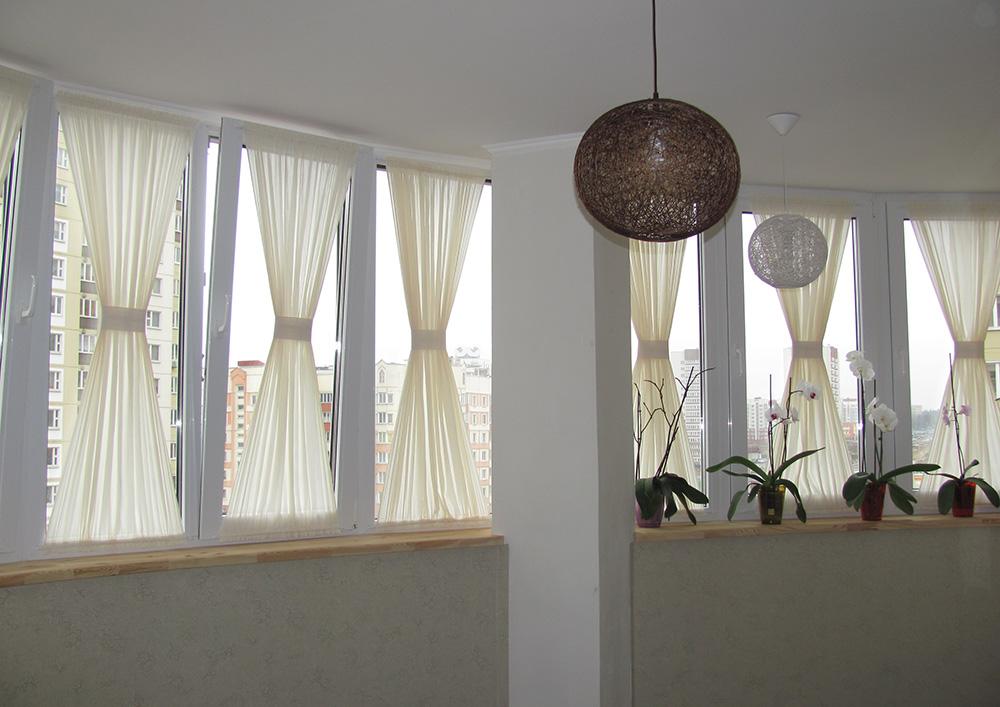 Как завесить окна тюлем без карнизов