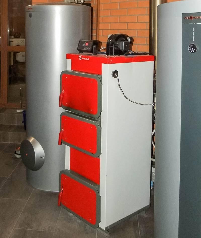 Схема отопления и установка твердотопливного котла