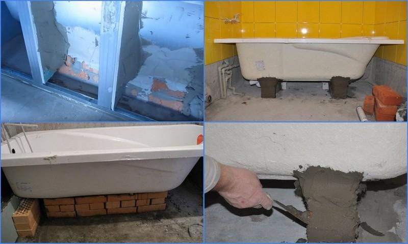 Установка ванны своими руками: пошаговая инструкция, видео