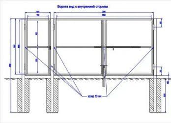 Как сделать распашные ворота своими руками: чертежи, материалы, инструкция по изготовлению и установке