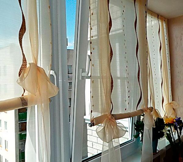 Шторы на балкон: идеи для изготовления своими руками