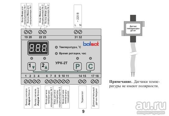 Блок ротации кондиционеров. согласователь работы кондиционеров срк-м, бурр-1, бис-1, урк-2т