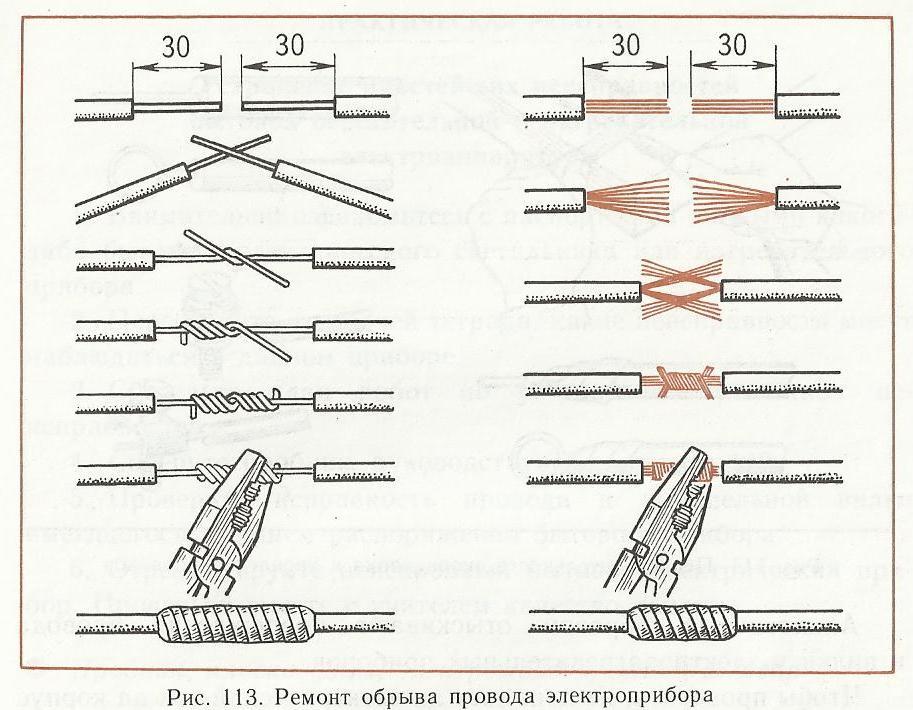 Скрутка проводов разного сечения – советы электрика