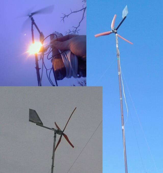 Ветрогенератор для дома из стиральной машины