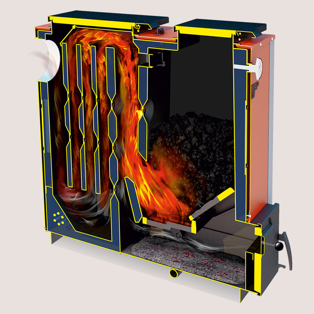 Пиролизные котлы длительного горения с водяным контуром: обзор характеристик, плюсы и минусы