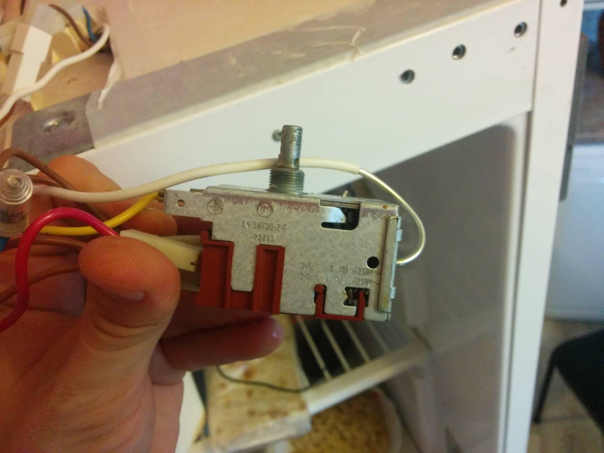 Замена терморегулятора в холодильнике своими руками: инструкция, проверка неисправности