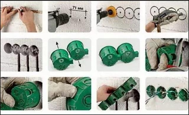 Как установить розетку в стену из бетона/гипсокартона: своими руками