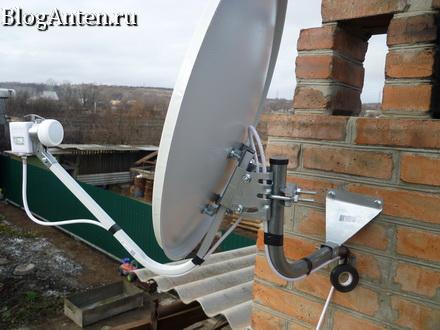 Настройка спутниковой антенны на 3 спутника.