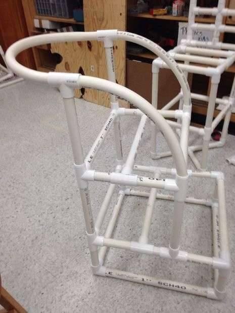 Поделки из труб – инструкция по проектированию и монтажу полезных вещей из труб (90 фото)