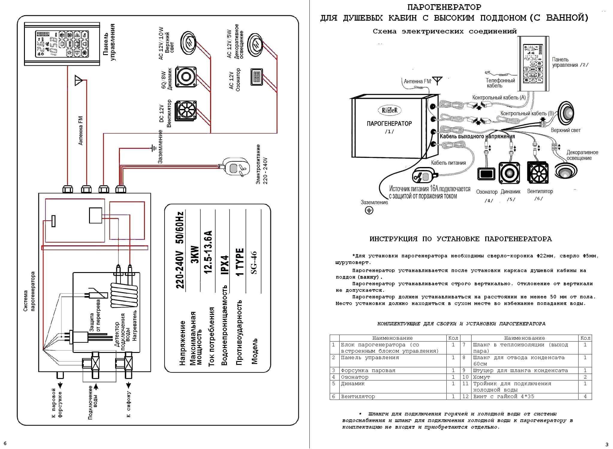 Душевая кабина с парогенератором: модели с паровой турецкой баней и хамамом, паром и гидромассажем, комплектующие и отзывы