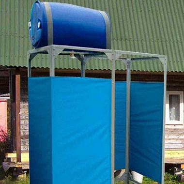 Как сделать летний душ на даче своими руками