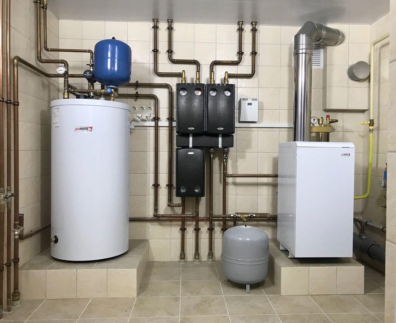 Обустройство отопления и водоснабжения коттеджа