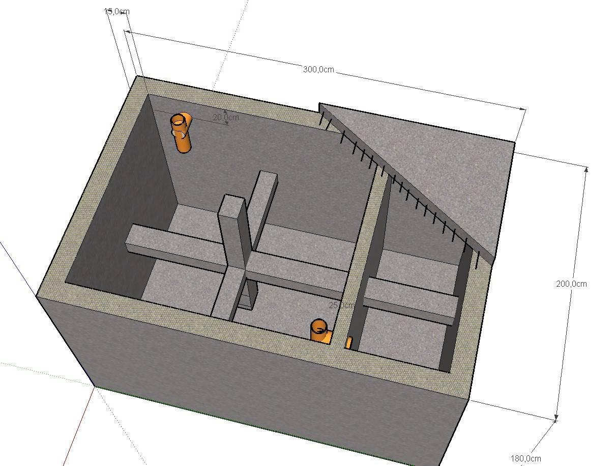 Монолитный бетонный септик для дачи своими руками: устройство септика из бетона - точка j