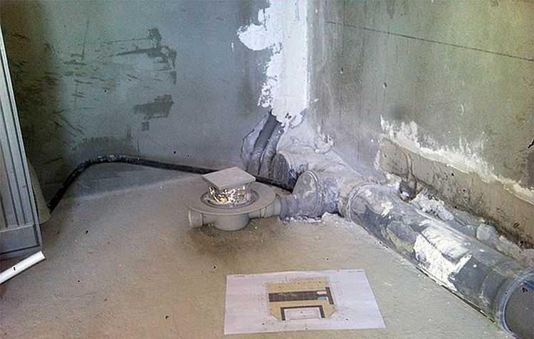 Как правильно сделать слив для душа в полу под плитку?