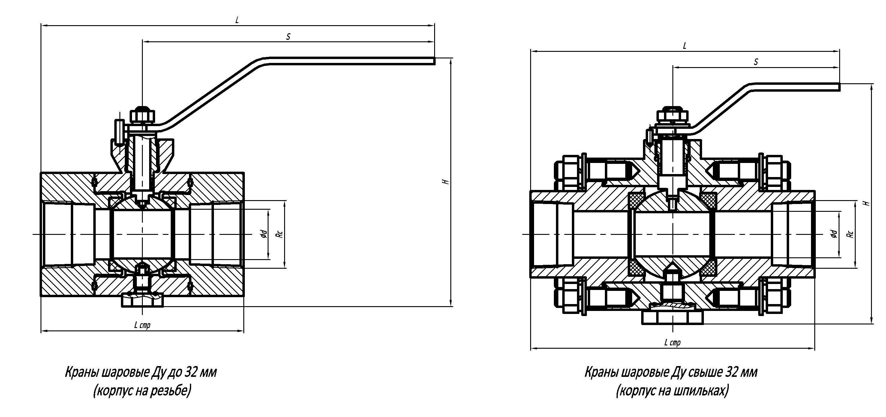 Шаровый фланцевый кран: шаровые стальные конструкции ду 50, 80 и 100, межфланцевые нержавеющие варианты
