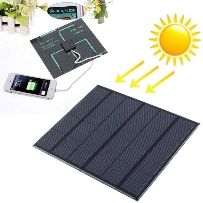 О солнечных батареях для зарядки аккумулятора автомобиля