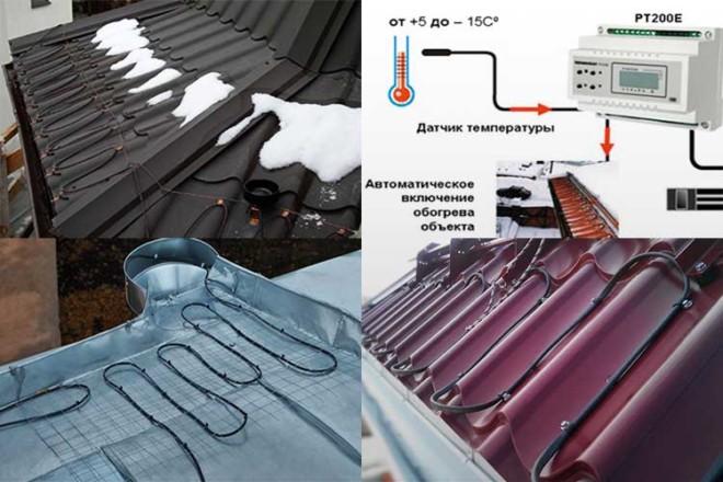 Обогрев системы водостока своими руками: монтаж, виды и схема установки
