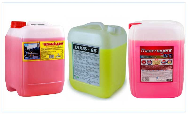 Теплоноситель для системы отопления загородного дома: какой лучше антифриз, незамерзающий для электродных котлов, как выбрать для газового котла, какую жидкость залить в систему