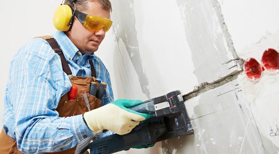 Штробление стен под проводку – лучший вариант для закрытых проводов + видео
