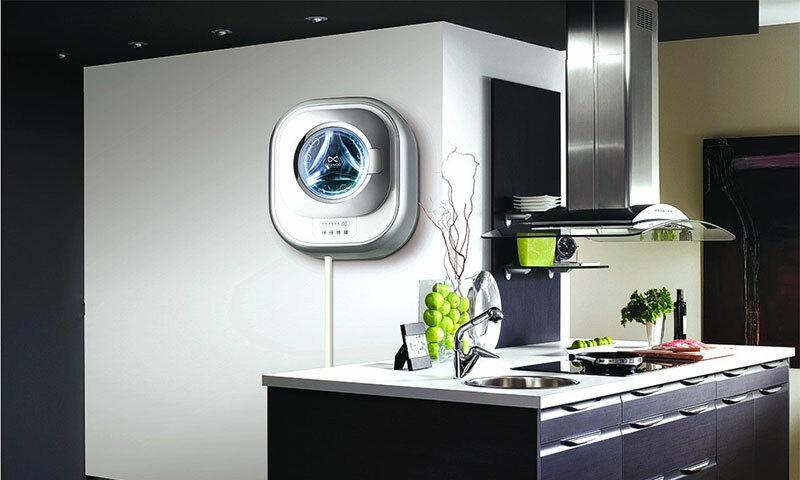 Настенная стиральная машина: особенности, модели, установка