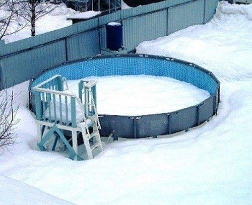 Консервация каркасного бассейна на зиму