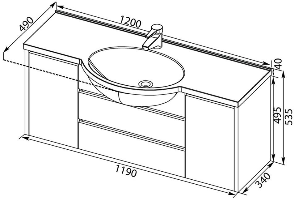Стандартные и не очень размеры раковины для ванной комнаты