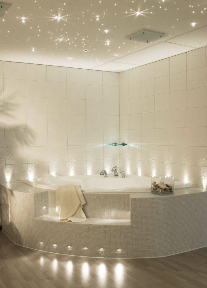 Правильное освещение в ванной комнате: дизайнерские приемы + нормы безопасности