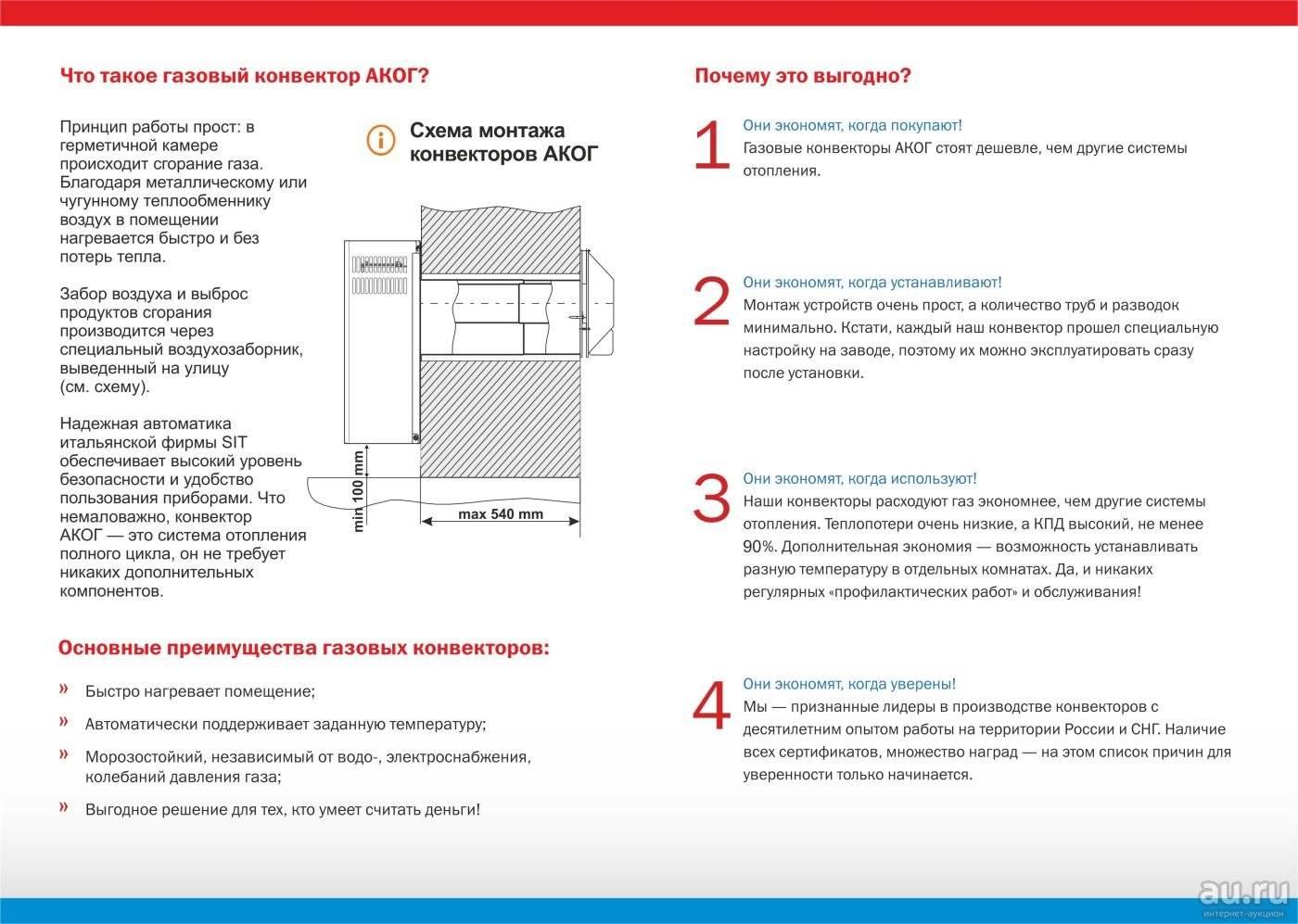 Газовые конвекторы: принцип работы, плюсы и минусы, правила установки и эксплуатации