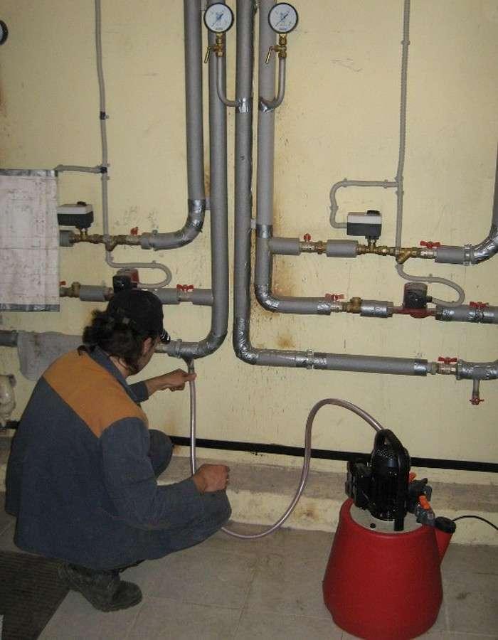 Промывка системы отопления: порядок проведения работ, этапы и виды