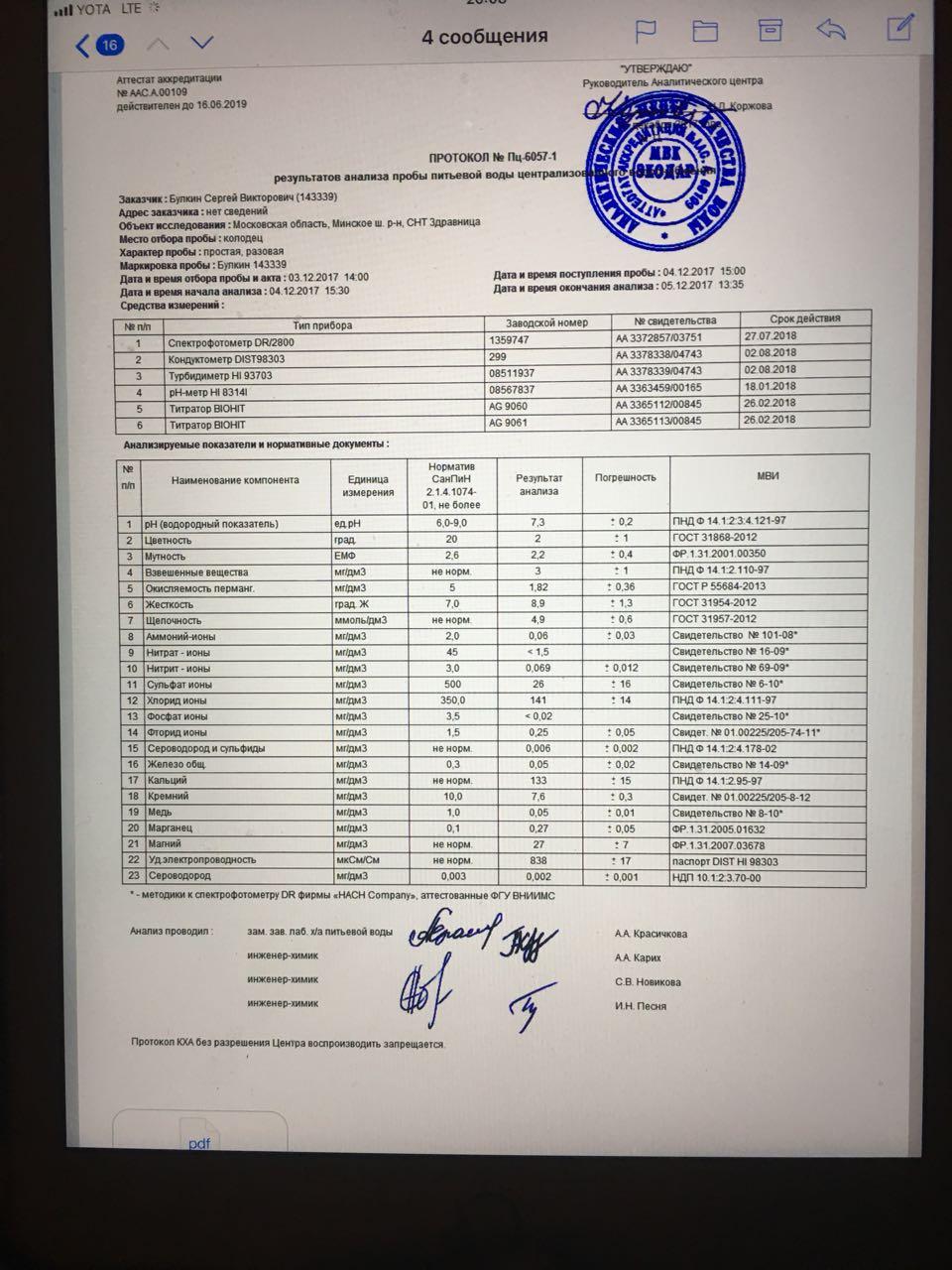 Отбор питьевой воды для химического анализа: регламентирующие акты и госты, правила забора образцов для лабораторного, физико-химического и других видов теста
