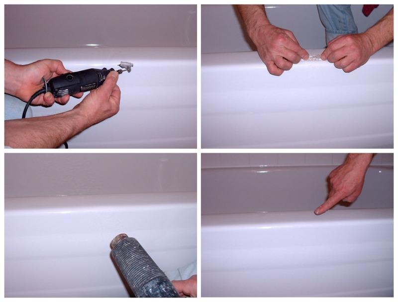 Как и чем лучше отремонтировать скол на поверхности ванны?