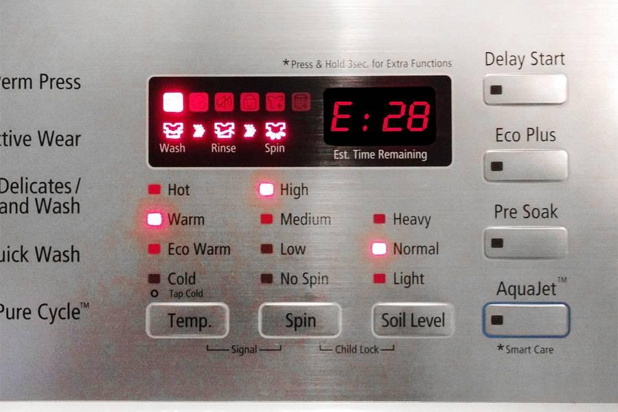 Ошибка d02 в стиральной машине бош