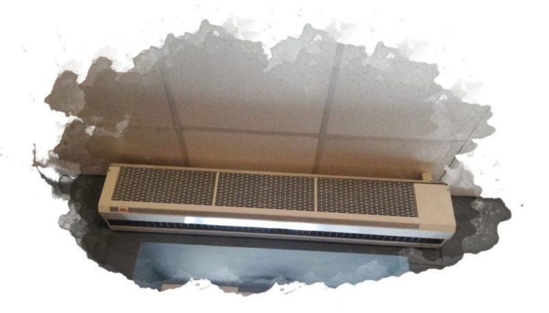 Выбор тепловой завесы над дверью