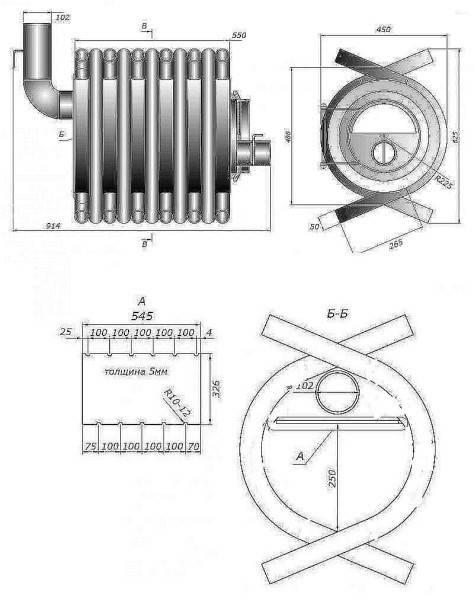 Печь булерьян своими руками: схема, чертеж и конструкция банной печки