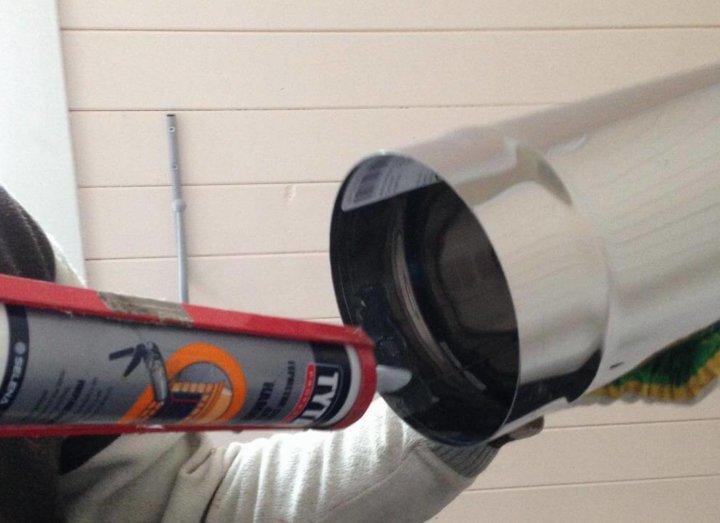 Уплотнение стыков труб с помощью герметика