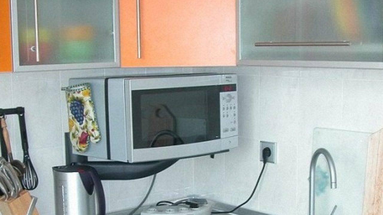 Куда поставить микроволновку на кухне - 22 варианта